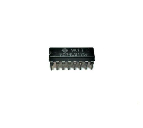 (5x) Hitachi HD74LS175P - Quad D−Type Flip−Flop TTL IC, NOS