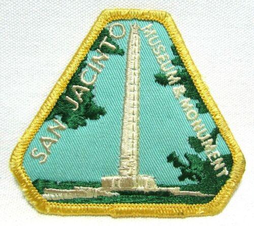 Vintage San Jacinto Museum Monument Jacket Patch La Porte Texas Travel Souvenir