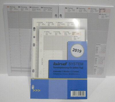 Timer Einlage 2019  A5 1 Woche = 2 Seiten Bind B-2508 Kalender-Einlage