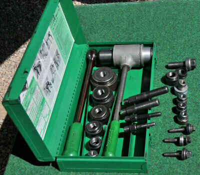 Greenlee 1904 1906 Ratchet Knockout Driver Set Metal Punch Kit 12 - 2 Conduit