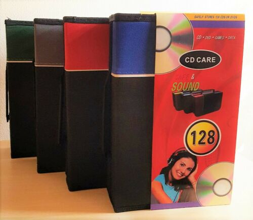 128 Disc DVD VCD CD Case Album Carry Storage Wallet Holder Game Box Organizer