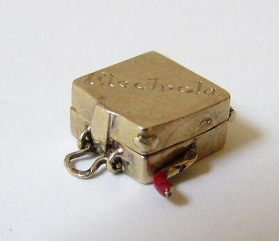 14k Yellow GOLD Bracelet ELECTROLA moveable Record Player 3D Charm