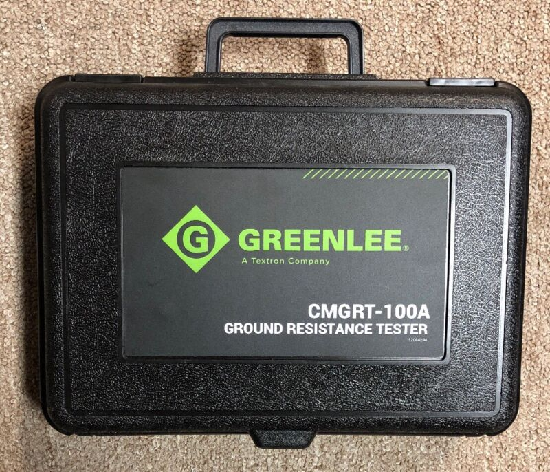 New! Greenlee CMGRT-100A Ground Resistance Tester