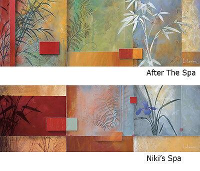 NIKI'S SPA (36x12) and AFTER THE SPA (36x12) SET by DON LI-LEGER 2PC CANVAS