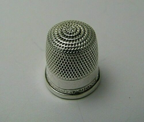 STERN BROTHERS STERLING SILVER THIMBLE Size 12 by Stern Bros. Excel Cond