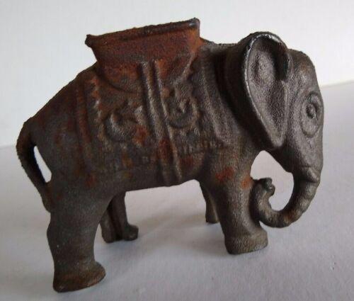 Cast Iron Elephant Bank With Howdah Stars Moon