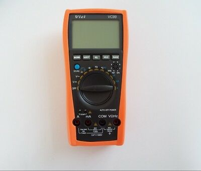 New Vc99 3 67 Auto Range Digital Multimeter Meter Ac Dc Ohm Hz Fluke Lead Dmm