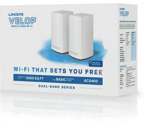 NEW Linksys Velop Dual-Band Whole Home Mesh Wi-Fi System  VL
