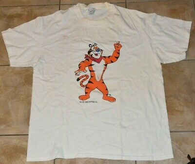 Vintage TONY THE TIGER 1993 Kellogg Advertising TEE T-shirt HANES L