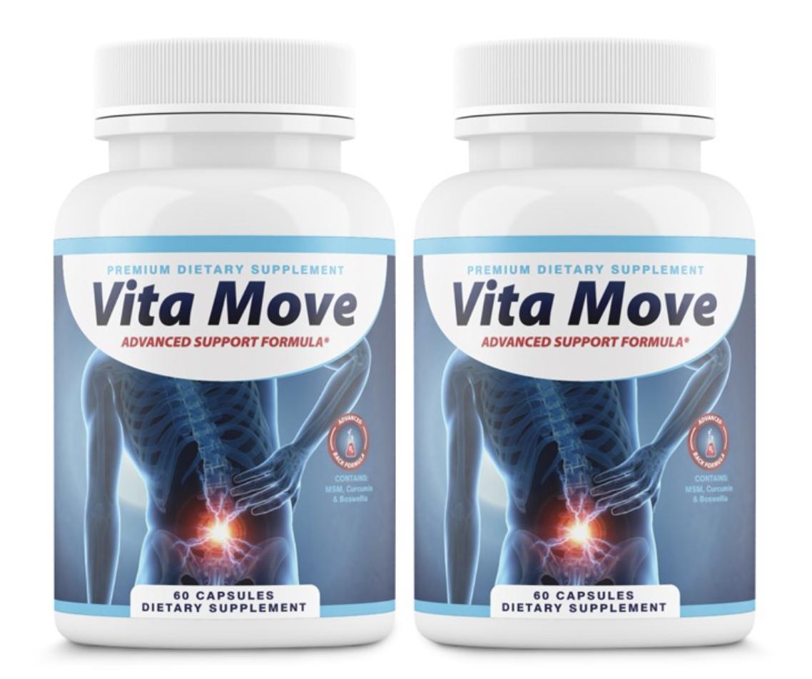 2 Bottles Vita Move Advanced Support Formula Vitamove 60 Capsules