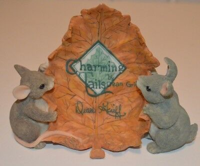 Charming Tails Display Sign Figurine by Dean Griff  Fitz and Floyd 87/690