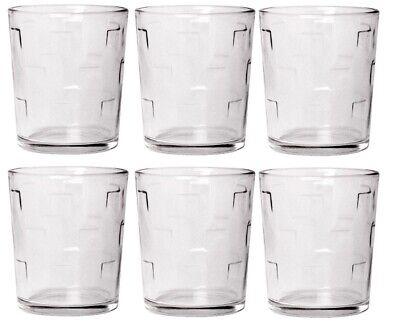 CoK Patrón de Cuadrados Cristal Grande Vaso Juego Apilables Zumo Agua Gafas...