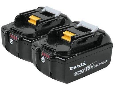 2 Genuine Makita BL1850B 18V LXT Lithium-Ion Batteries 5.0Ah BL1850B-2