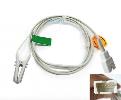 Masimo Oximax Spo2 Sensor 1895 Incs Tc-1 Adult Ear Clip 3feet 9pin