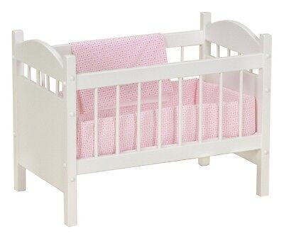 BABY DOLL CRIB Bedding Oak Wood Handmade American Furniture 18
