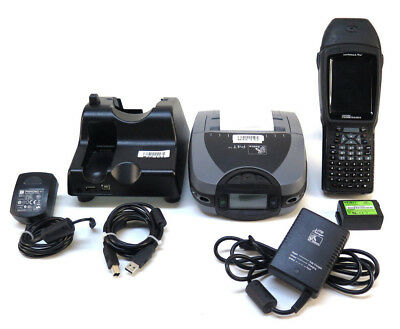 Psion Teklogix Workabout Pro 3 7527c-g2 Rf Scanner W Zebra P4t Mobile Printer