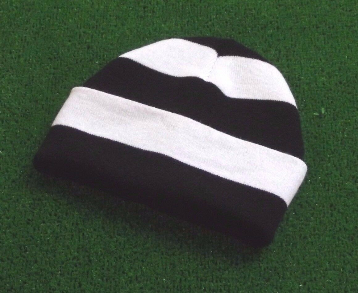 Newcastle United Colours Retro Bar Hat - Black and White - Made in UK