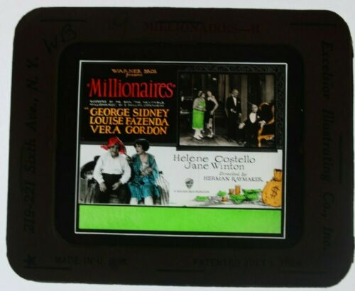 Millionaires 1926 glass slide - George Sidney - free shipping