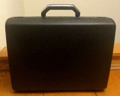 "SAMSONITE ""Broker GL"" black hard shell Locking BRIEFCASE"