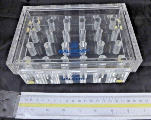 NALGENE Beta Block / Acrylic Centrifuge Tube Rack 6720-9150 w/ cover