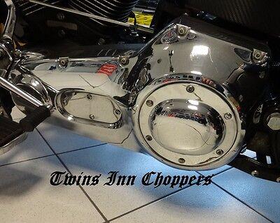 Harley Derby Primär Cover Pan Style 70-99 Shovel Evo Kupplung FX Softail Dyna