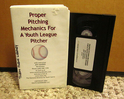 PROPER PITCHING MECHANICS baseball Youth League Pitcher instruction VHS coaching
