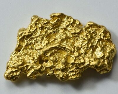 #973 Natural Gold Nugget Australian 2.88 Grams Genuine