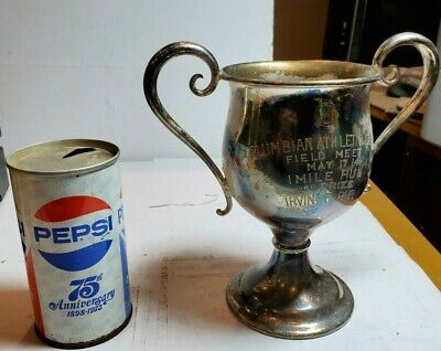 Antique  Loving Cup Trophy Silverplate Columbian  Athletic Club May 17th 1914