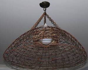 Huge Rustic Aged Heavy Steel Original Lobster pot ceiling light Panania Bankstown Area Preview
