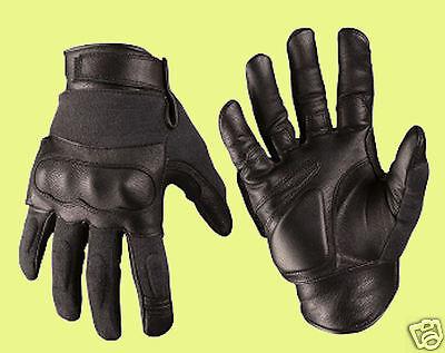 Polizei Security Leder Aramid Schnittschutz Handschuhe Knöchelschutz Protektoren ()
