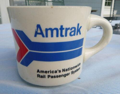 vintage  coffee cup mug Amtrak 3 inches