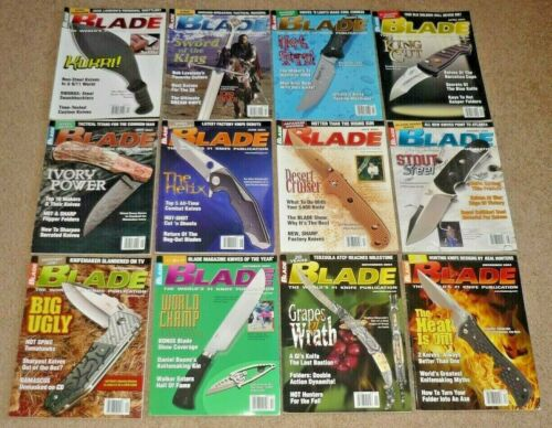12 BLADE Magazines, Knives Complete Year 2004 Vol 31 Issue 1-12