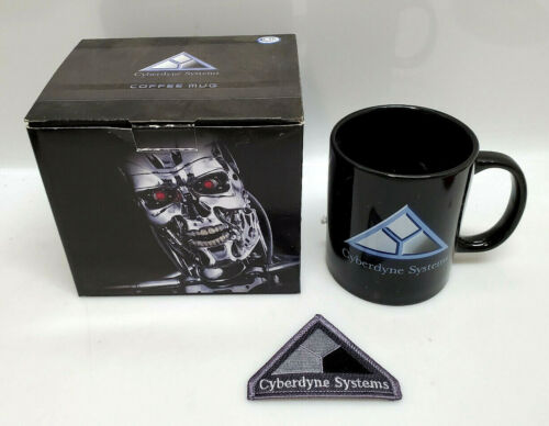 2012 Terminator 2 Cyberdyne Systems Ceramic Mug w Free Patch in Original Box