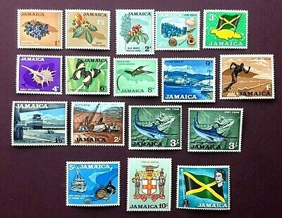 JAMAICA 1964 - FULL DEFINITIVE SET TO £1+ (17 STAMPS) - MINT LIGHTLY HINGED