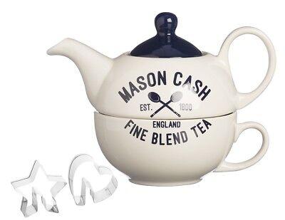 Mason Cash Tee für einen Teekanne Set mit 2 Edelstahl Ausstechformen Eine Teekanne Set