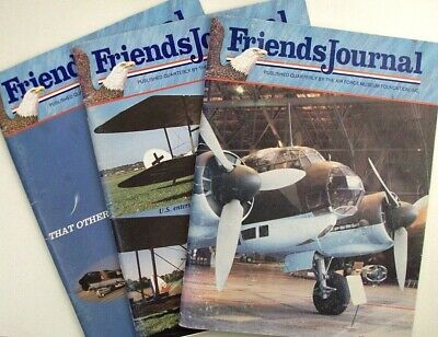 (3 Issues Friends Journal - Air Force Museum: Vol 15, #1&4 Vol 16 #1 1992/93 USAF)