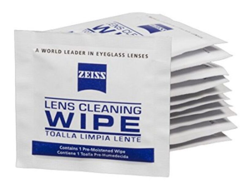 50 Zeiss Individually Wrapped Premoistened Lens Glasses Cleaning Cloth Wipe