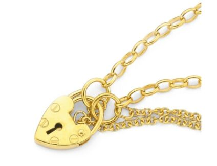 Child's gold locket bracelet