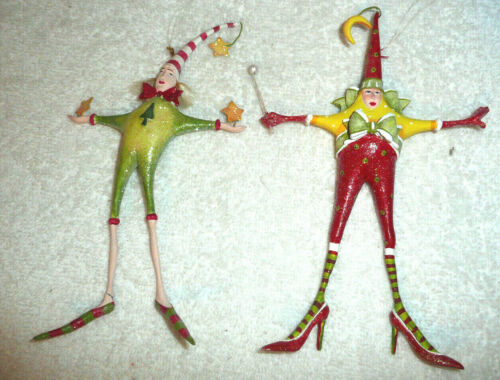 DEPT 56 PATIENCE BREWSTER MAN WOMAN STAR ORNAMENTS
