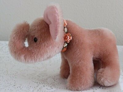 ANNETTE FUNICELLO COLLECTIBLE BEAR CO ~ PINK ELEPHANT 100% MOHAIR (JOINTED HEAD)