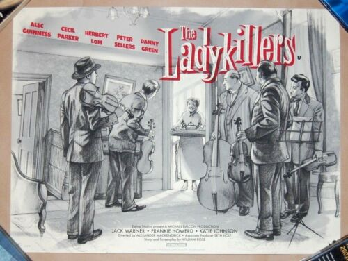 Jonathan Burton THE LADYKILLERS Screen Print VARIANT Poster /50 Alec Guinness