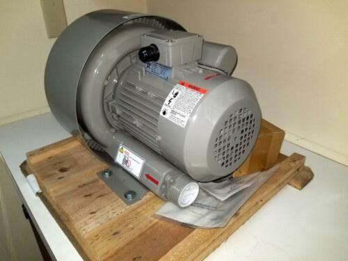 REGENERATIVE BLOWER, NEW - 2.0 HP, MAX 105CFM,  230V single phase 50/60HZ