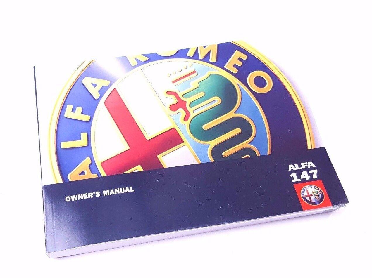 Hand Book 60431309 New Genuine Alfa Romeo 147 2002-2005 340 Page Owners manual