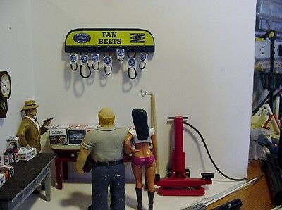 1/18 - Ford Fan Belt Rack-Hang on the wall of your garage/shop/diorama