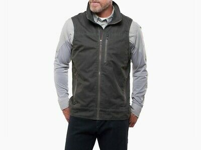 Kuhl Burr Vest Gunmetal Color Barn Style Men's Vest Size XL Item #1042 (Gunmetal Grey Color)