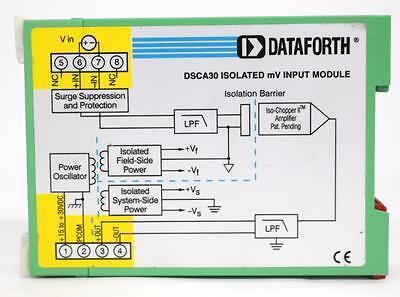Dataforth Dsca30-09 Analog Voltage Input Signal Conditioner
