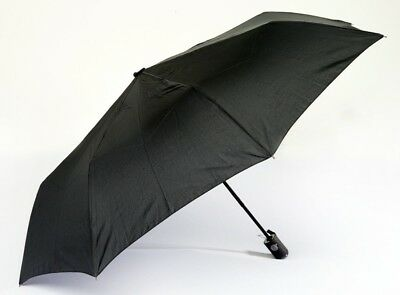 Men's Versace Compact Umbrella - Windproof Fibreglass Reinforced Automatic Black