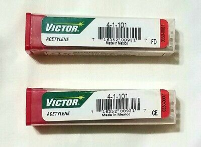 Victor 4-1-101 Acetylene Cutting Torch Tip Lot Of 2 St2600fc Ca2460 Mt210 Mt204