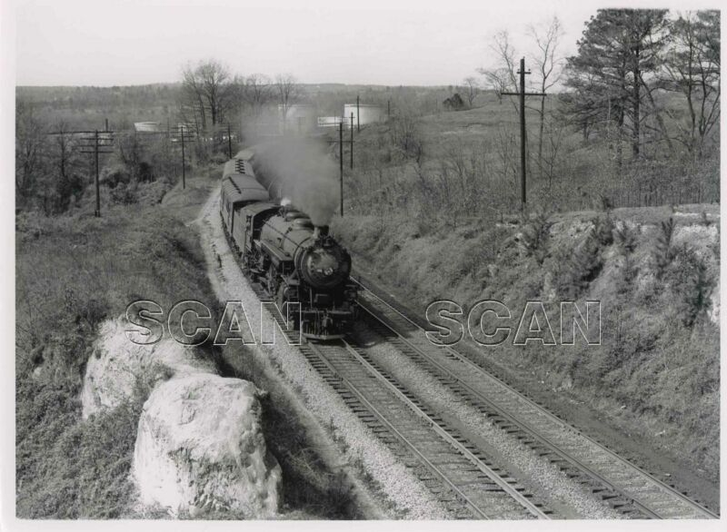 9GG164 RP 1951/80s SOUTHERN RAILROAD 4-8-2 LOCO #1458 CHATTAHOOTCHEE GA