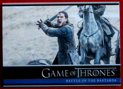 GAME OF THRONES - Season 6, Card #26, BATTLE OF THE BASTARDS - Rittenhouse 2017